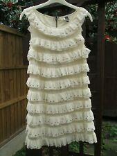 Topshop cream white ruffle studded dress size 6 UK - new without tag!