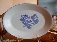 "Yorktowne Platter Chop Plate 14"" W Pfaltzgraff Genuine Stoneware Blue Grey !"