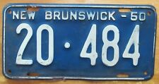 New Brunswick 1950 License Plate NICE QUALITY # 20-484