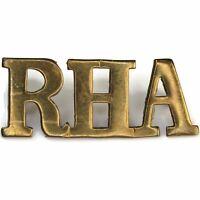Original WW1 Royal Horse Artillery Regiment RHA Shoulder Title Badge - FE76