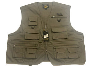 NWT Men's XL WHITE RIVER FLY SHOP 20 Pocket Fishing Vest Olive Green - FREESHIP