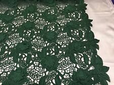 Guipure Lace Green 3D Flower Wedding Dress Embroidered Heavy  - By The Yard.