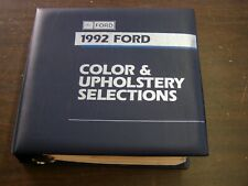 Ford Dealers Product Guide 1992 Color + Trim Book Mustang Thunderbird Truck +++