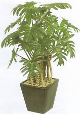 "21"" Artificial Palm Tree Arrangement Plant Flower Topiary Bonsai Silk Philo Ivy"