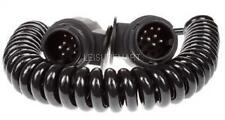 13 Pin Trailer extension lead curly cable 2.5m long 2 x 8 pin plugs