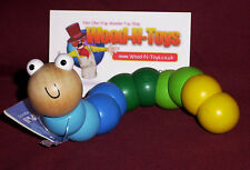 Wooden Wiggly Worm - Blue/green (for kids 12 months and over.)
