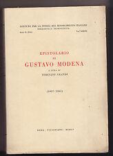 H739-RISORGIMENTO-EPISTOLARIO GUSTAVO MODENA