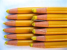 12 Perel Off  China Marker Marking Grease Fabric Metal Pencil Yellow