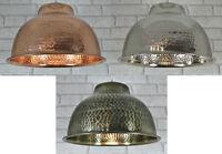Metal Hammered Vintage Ceiling Light Pendant Lamp Shade