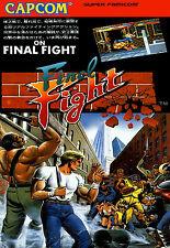 Juego de Capcom enmarcado impresión: lucha final (versión japonesa Juegos Arcade Classic)