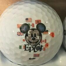 Disney Epcot Mickey Mouse World Flags Logo Golf Ball (G-13-1)