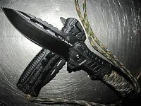 3 in 1 Einhand Messer Outdoorset Survival Firestarter schwarz/oliv Taschenmesser