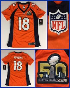 NWT Women's PEYTON MANNING Denver Broncos Super Bowl 50 Nike Authentic Jersey