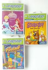 Leapster Explorer Game Lot of 3 Scooby-Doo Get Puzzled Disney Princess Leapster