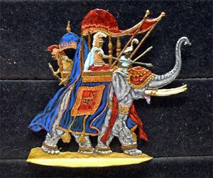Zinnfigur Karthago Kriegselefant 30mm bemalt