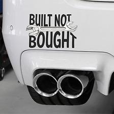 Built not bought voiture autocollant vinyle véhicule moto graphique pare-choc Autocollant Tool Box