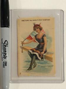 SILK CIGARETTE TOBACCO CARD BATHING BEAUTY NANTUCKET