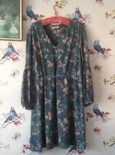 Dress Size 16 By Tu Drawstring Waist Pansy Print. New Without Tags