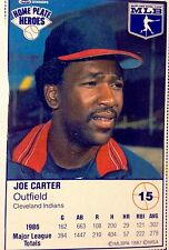 1987 Joe Carter Cleveland Indians CLASSIC Baseball Card  Kraft Home Plate Heroes