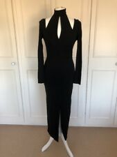BEAUTIFUL LONG BLACK WOMENS EVENING DRESS INSPIRED BY DEMI MOORE SIZE UK 10-12