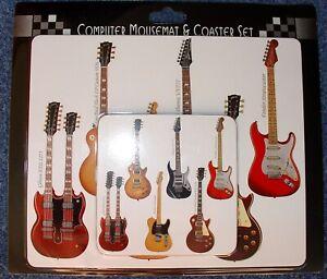 Guitar mousemat and coaster set