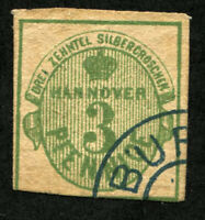 HANOVER #17 German States Stamps Postage USED