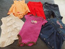 Lot of Baby Girl Clothes ~ 6 in all ~ Various Sizes up to 12 Months