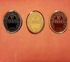 Collectable Guinness Pin Badges St James Gate Dublin (Set of 3)