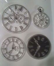 Vintage Watch Faces Ink Stamps Steampunk Card Making Scrapbooking Home Decor