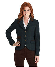 Polyester Checked Blazer Coats & Jackets for Women