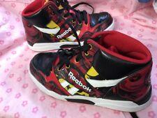 Boys Sneakers Size 2.5 Reebok Black Red Marvel