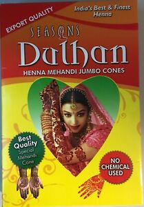 Henna Cones Red Dulhan Herbal 12 jumbo Cones Temporary Tattoo USA Seller