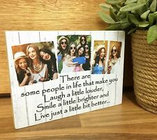 7x5'' Wooden Photo & Text Block Personalised Best Friend Friendship Gift Present