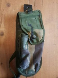 British Army PLCE HOLSTER - DPM - Used GRADE 2 - WITH FLAP - Very Worn - No1