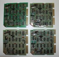 """Lot of four (4) vintage computer circuit boards each stamped stamped """"3 1100"""""""