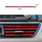 10Pcs Car Air Conditioner Air Outlet Vent Grille Strip Moulding Trim PVC Red photo