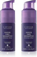 2 Pack Caviar Anti-Aging Sheer Dry Shampoo by Alterna -Dry Shampoo Powder Spray