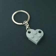 LEGO Love Heart Light Bluish Gray Keychain Keyring 3176-194-1 NEW
