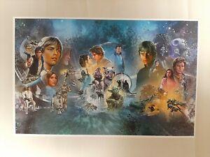 Star Wars Mural Han Solo Leia Yoda Darth Vader R2D2 Jabba Poster Print
