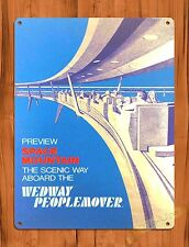 TIN-UPS Tin Sign Disney's Wedway People Mover Attraction Ride Art Poster