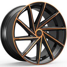 4-NEW Rosso Insignia 20X8.5 5x105/5x114.3 +38mm Black/Copper Wheels Rims