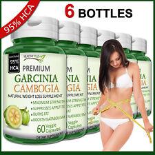 6 x GARCINIA CAMBOGIA Capsules 95% HCA Fat Burn Diet Slim Weight Loss Natural