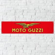 Moto Guzzi Banner Garage Workshop PVC Sign Trackside Display