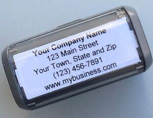 Personalized Custom 5 LINE RETURN ADDRESS SELF Inking Rubber Stamp - Grey