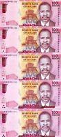 LOT  Malawi, 5 x 100 Kwacha, 2017, P-59-New, UNC