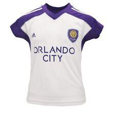 Orlando City SC MLS Adidas Kids Youth Girls Size Athletic Jersey-Style Shirt New