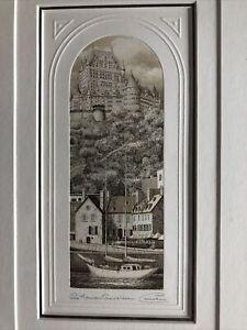 1992 Pascale d'Autane 672/1000 Etching Maison Chevaliere CANADIAN ARTIST Quebec