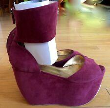 Walter Steiger  Shoes Bardo Suede Wedge High Platform Sandal
