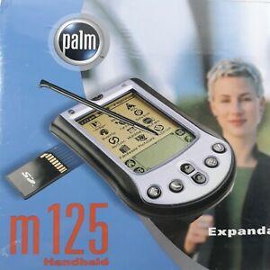 Palm M125 PDA Compact Handheld Device Note Pad Clock Date eBook 340-3371A-US NIB