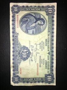 LADY OF LAVERY £10 BANKNOTE 1952 STILL CRISP RARE!!